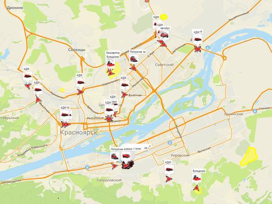 Красноярские коммунальщики сделали онлайн-карту уборки снега