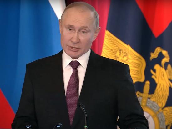 Путин призвал бороться с вовлечением детей в протестные акции