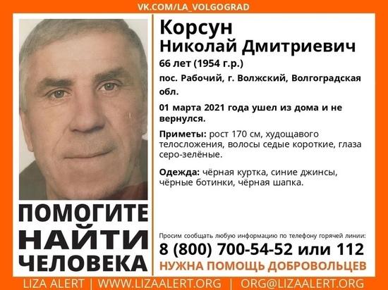 В Волжском третий день ищут пропавшего 66-летнего мужчину