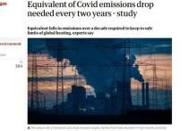 Как показали исследования, выбросы углекислого газа должны сокращаться на столько, сколько сократились за пандемию