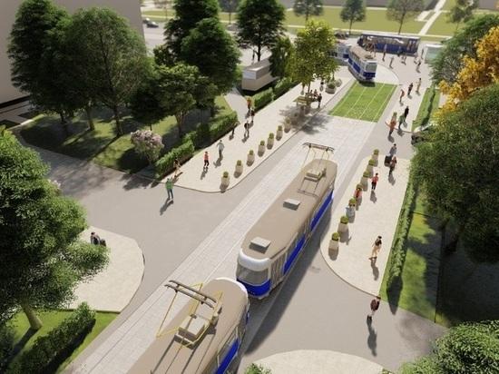 По итогам реконструкции трамвайных путей здесь появится пешеходная зона