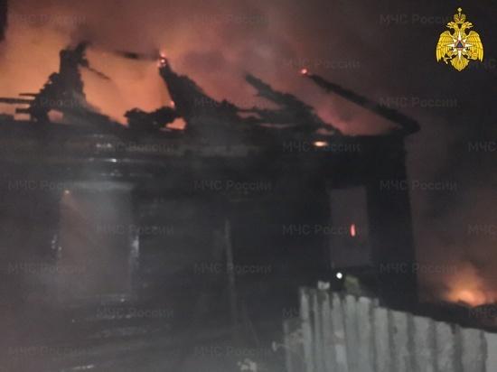 В Спас-Деменске на пожаре погиб 45-летний мужчина