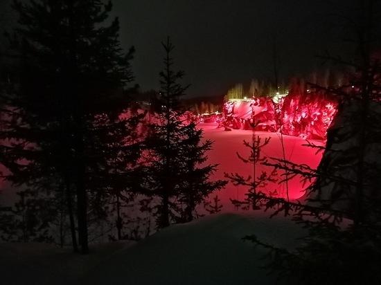 Что показывают в зимней Рускеала, и как разворачивают паровоз. ВИДЕО, ФОТО