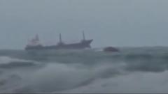 Опубликовано видео затонувшего в Черном море сухогруза