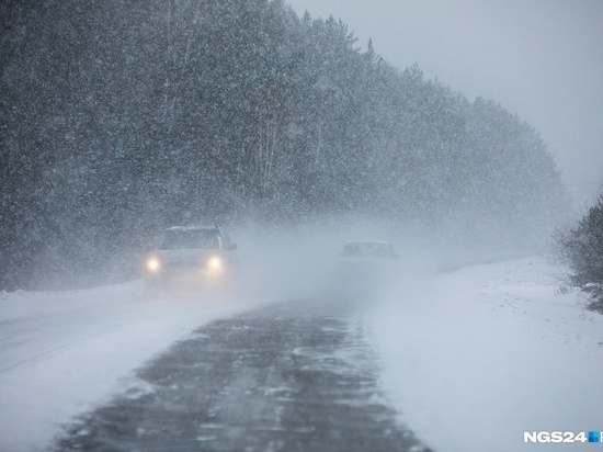 Хакасию засыпает снегом, водителям лучше отложить поездки
