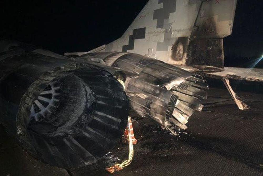 Опубликованы фото после тарана МиГ-29 пьяным украинским офицером