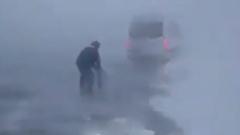 На Иркутск обрушился снежный шторм: видео очевидцев