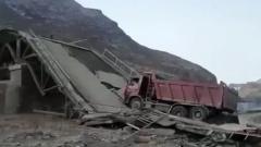 В Дагестане под КАМАЗом рухнул мост