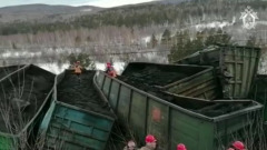 Грузовой поезд сошел с рельсов в Челябинской области: видео