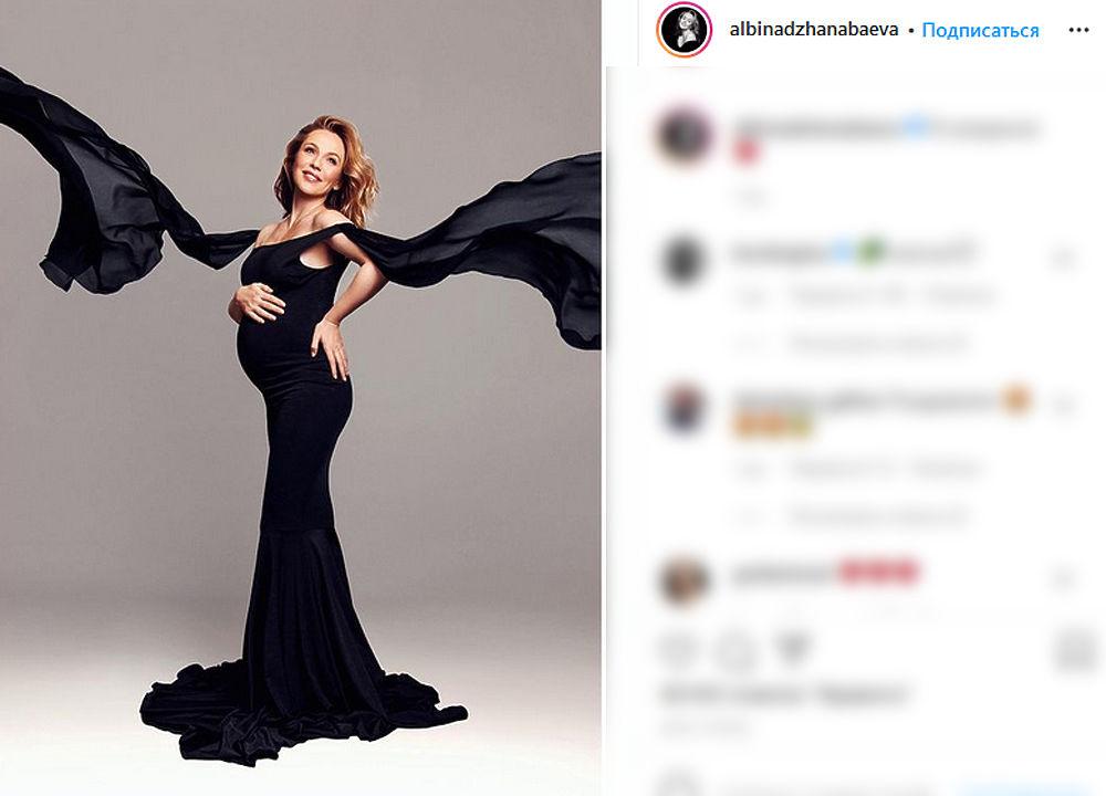 Альбина Джанабаева объявила о третьей беременности: фото счастливой артистки