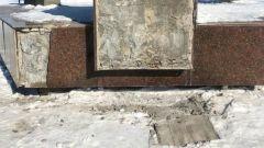 Памятник Гагарину в Оренбурге разбили подростки