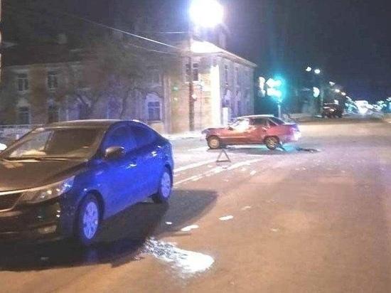 Daewoo врезалась в Kia в Петрозаводске