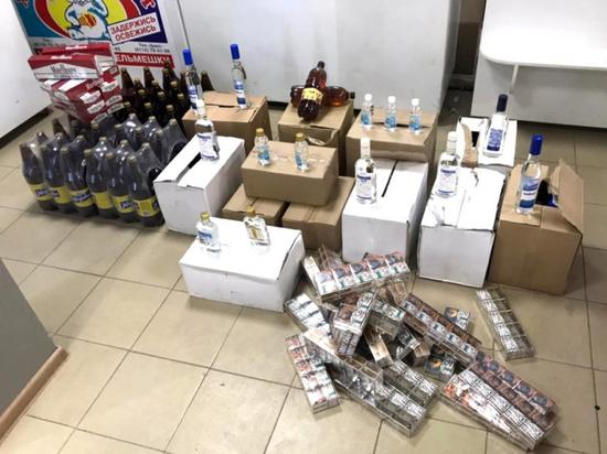 Псковский магазин продавал контрафактный алкоголь и сигареты