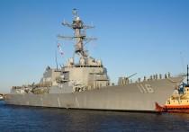 Российский Национальный центр управления обороной сообщил, что силы Черноморского флота приступили к слежению за американским эсминцем Thomas Hudner
