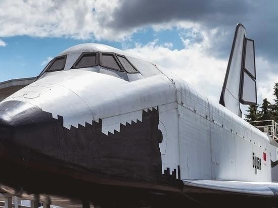 Макет космического корабля «Буран» установили в Барнауле
