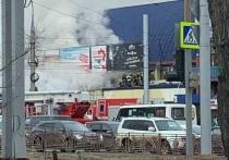 В Иркутске горел павильон цветов в «Байкальском торговом доме» в Первомайском
