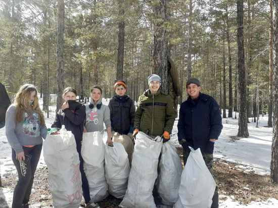 В лесах Бурятии собрали несколько центнеров мусора