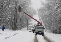 Энергетики вернули свет в дома более половины жителей Адыгеи, пострадавших от снегопада