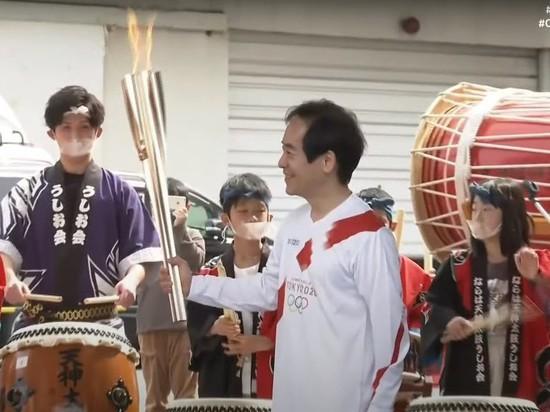 В японской префектуре Фукусима стартовала эстафета олимпийского огня