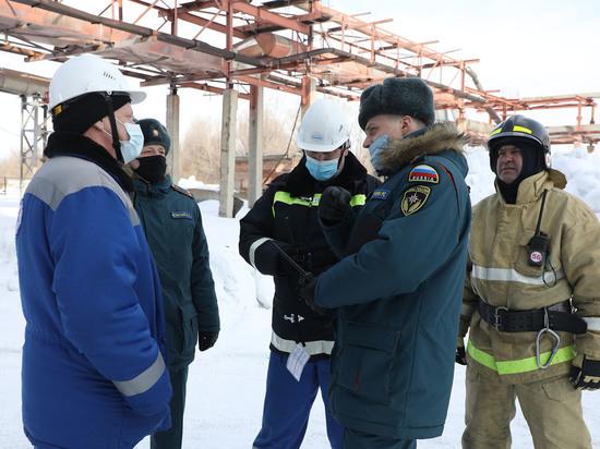 На ТЭЦ Алтай-Кокса провели учения спасателей