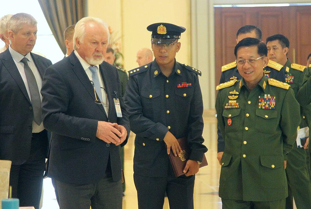 Верховный главнокомандующий Мьянмы встретился с главредом «МК» Павлом Гусевым