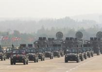 Ранним утром в столице Мьянмы городе Нейпьидо на Главной Военной Площади или как ее еще называют Площади Трех Королей, прошел военный парад в честь 76-й годовщины вооруженных сил страны