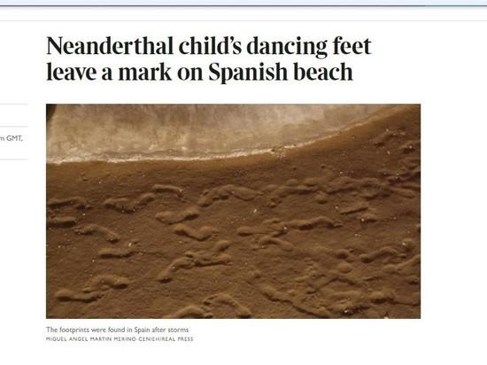 Шторм в Испании обнажил самые старые образцы следов неандертальцев