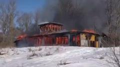 В Рыбинске сгорела старая спасательная станция