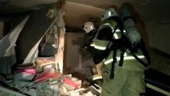 Взрыв газа разрушил семь квартир в Татарстане: видео разбора завалов