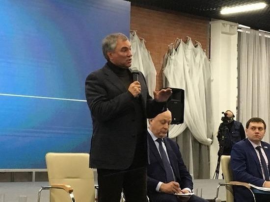 Володин рассказал Радаеву о проблеме с землёй