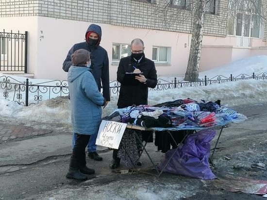 В Московском районе Чебоксар составлено свыше 100 протоколов за нелегальную торговлю
