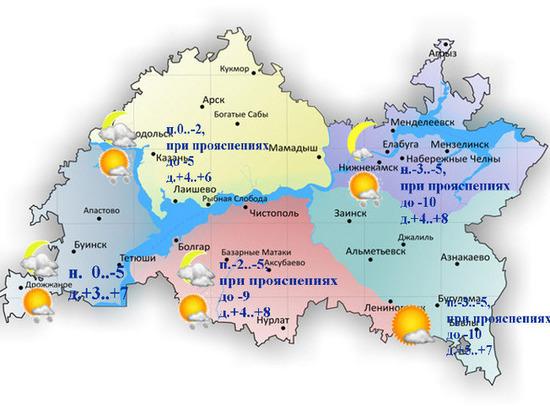 Сильный ветер и мокрый снег прогнозируются в Татарстане 31 марта