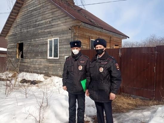 Костромские полицейския и росгвардия оперативно потушили пожар и спасли хозяина дома