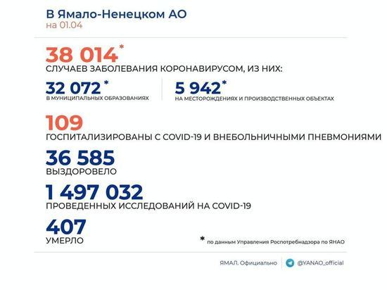 За сутки 23 новых случая коронавируса выявили на Ямале