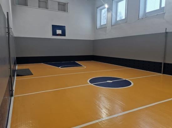 В Кузбасском селе отремонтировали зал для игровых видов спорта