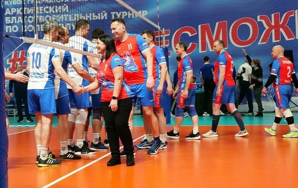 Благотворительный турнир по волейболу в ЯНАО завершился гала-матчем: фоторепортаж