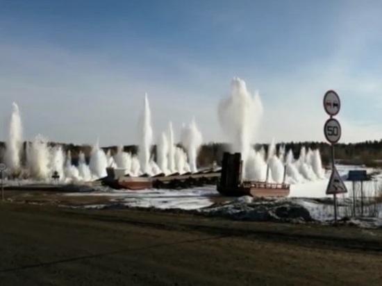 В Свердловской области начали взрывать лед на реках