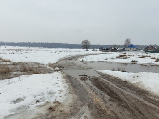 В Дивеевском районе затоплен низководный мост