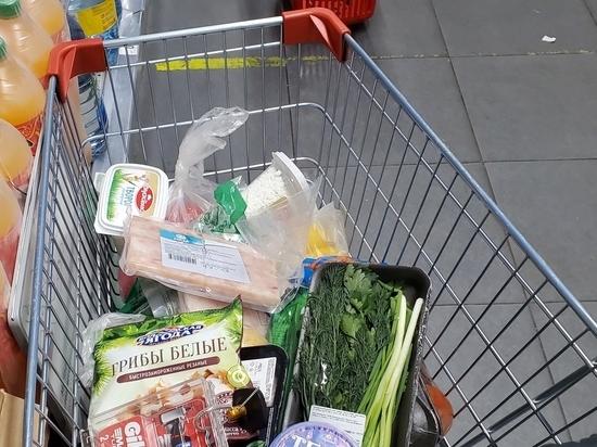 Названы траты россиян на продукты питания