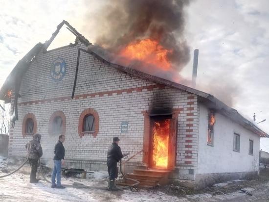 В Касимовском районе Рязанской области сгорела баня