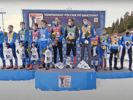 Башкирские биатлонисты завоевали золото в мужской эстафете на чемпионате России