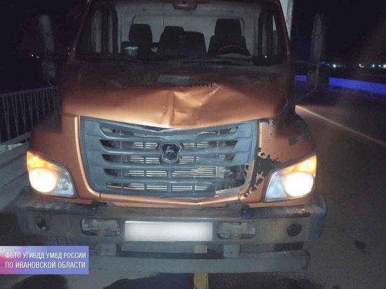 В Ивановской области водитель грузовика насмерть сбил пешехода