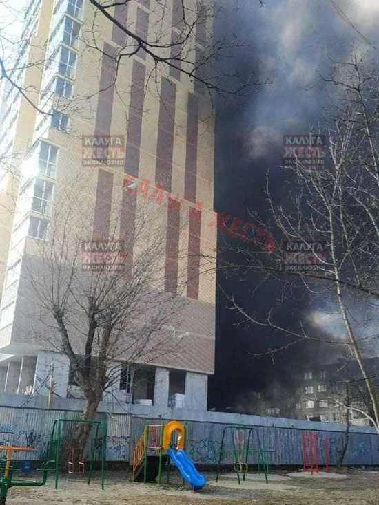 Озвучены подробности пожара новостройки на Белинского в Калуге