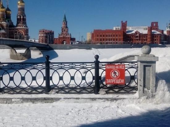 Специалисты измерили толщину льда на Кокшаге в Йошкар-Оле