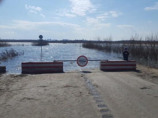 6 апреля под Рязанью перекрыли автодорогу из-за паводка