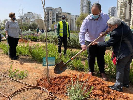 Пережившие Холокост посадили в Бат-Яме деревья в память о своих близких