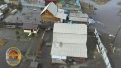В Красноярске разлившаяся река затопила дома