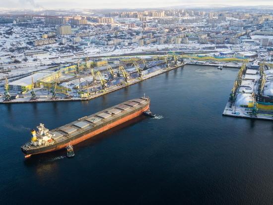 Объемы перевозки грузов через мурманский порт увеличены