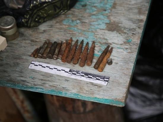 Коллекцию боеприпасов обнаружили полицейские в сарае у псковича