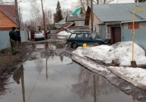 Талые воды откачали на одной из улиц Барнаула